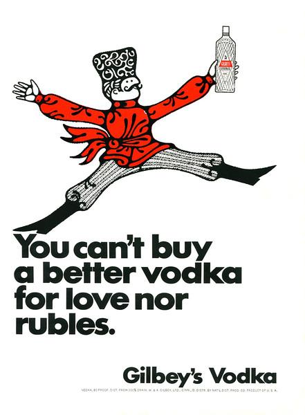 1967 GILBEY'S vodka US