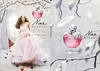 NINA RICCI Nina Eau de Toilette 2006 US (Macy's stores) recto-verso with scent strip) 'the new magical fragrance - Please lift here to discover Nina'