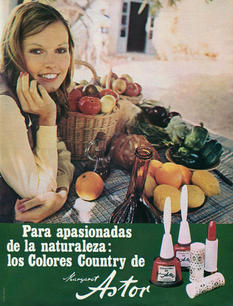 1972 MARGARET ASTOR Colores Country cosmetics: Spain