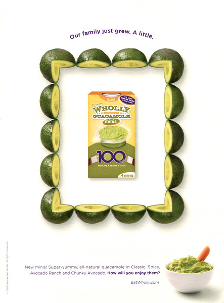 2013 WHOLLY guacamole: US (Cosmopolitan)