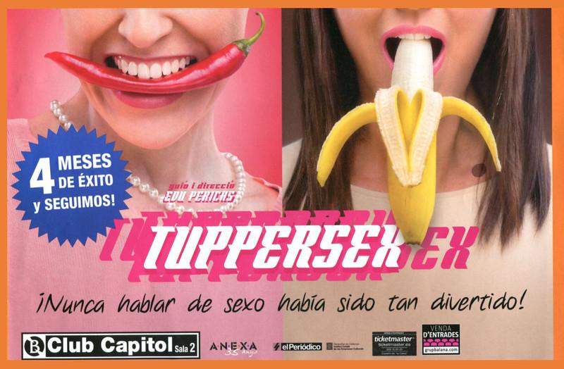 2014 TUPPERSEX EX theatre bill Spain (half page Cuore)