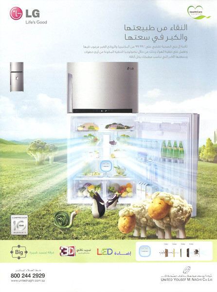 2012 LG fridges United Arab Emirates (Saydaty)