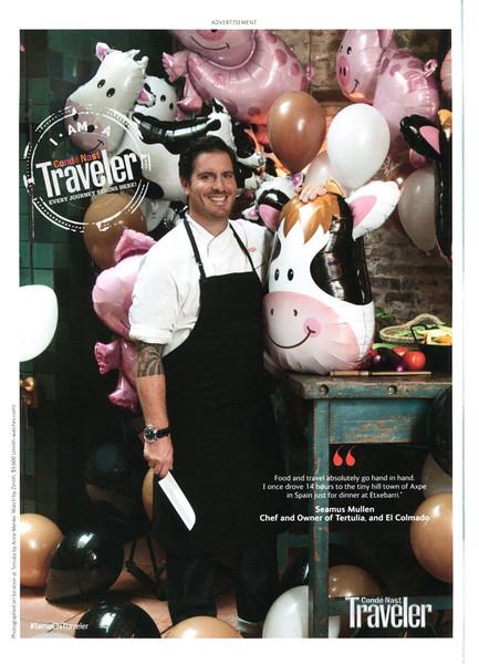 2013 CONDÉ NAST TRAVELER magazine US (GQ) featuring Spanis chef Etxeberri