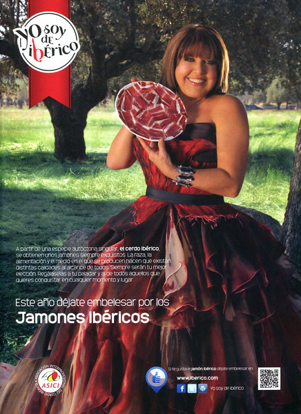 2011 IBERIC HAMS Spain (Lecturas) featuring Loles León (Spanish comic actress)