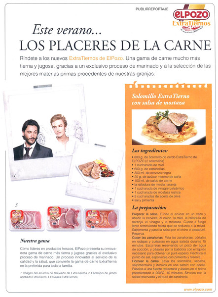 2012 EL POZO meat products Spain (Lecturas)