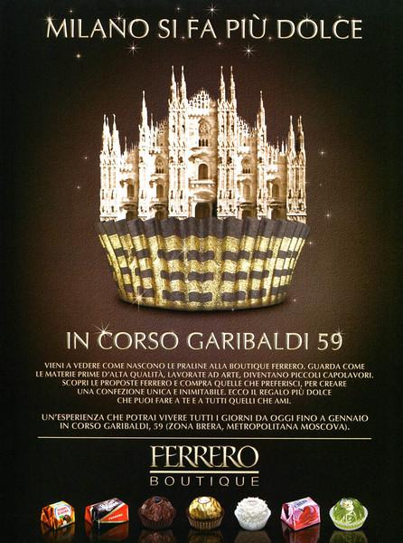 2010 FERRERO ROCHER chocolates Italy (Vanity Fair)