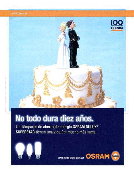 2007 ORAM lightbulbs: Spain (El País Semanal) 'Not everything lasts ten years'