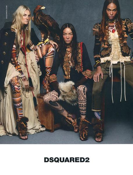 2015 DSQUARED2 clothng: Spain (Elle) featuring Caroline Trentinii,  Fei-Fei Sun & Joan Smalls