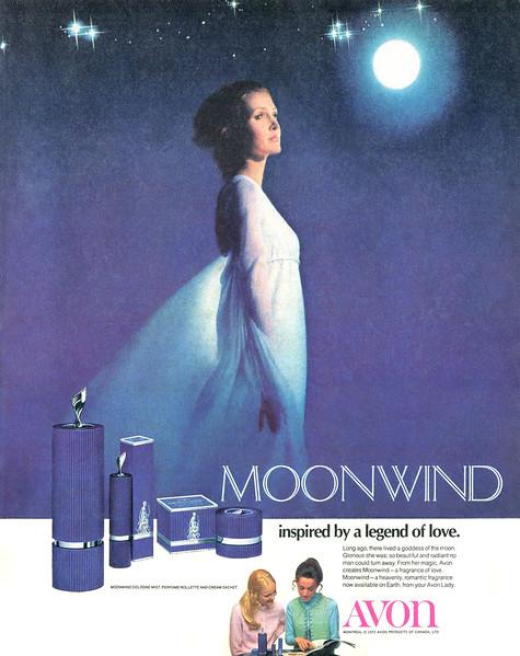 1972 AVON Moonwind fragrance: Canada
