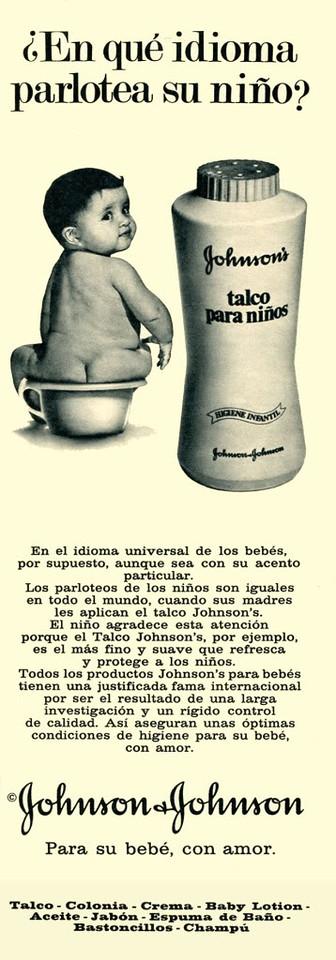 1972 JOHNSON talcum powder Spain (half page Telva)