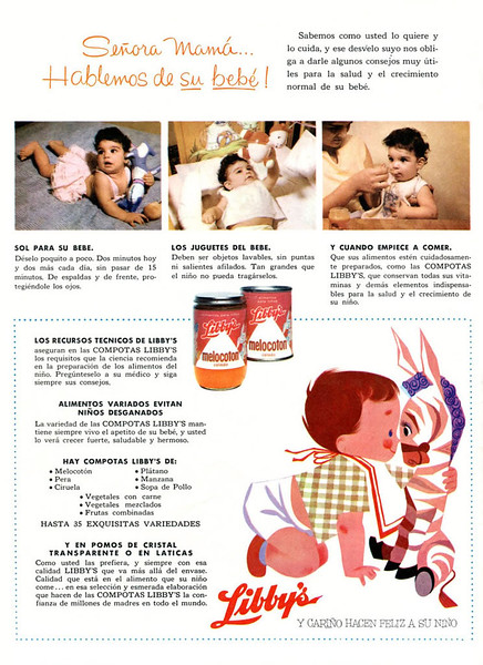 1959 LIBBYS baby food Cuba (Bohemia)
