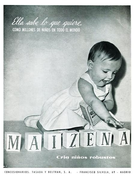 1958 MAIZENA corn flour Spain (lFemenina)