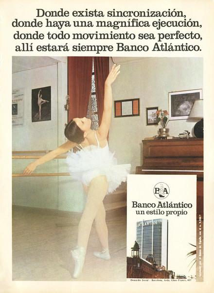 1974 BANCO ATLÁNTICO bank Spain (El Liceu)