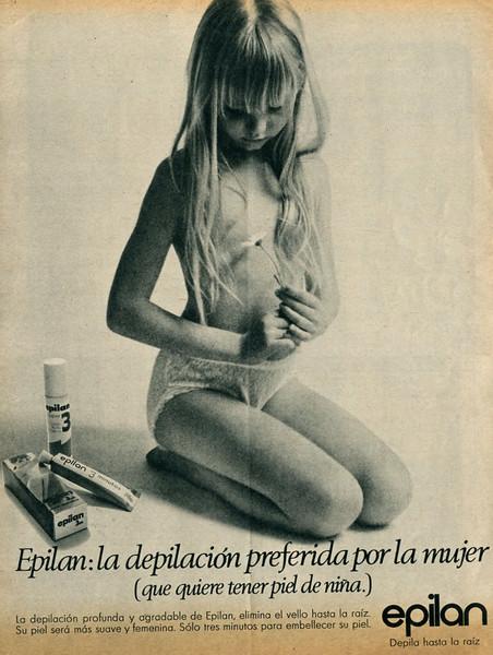 1972 EPILAN hair removal cream: Spain (Telva)