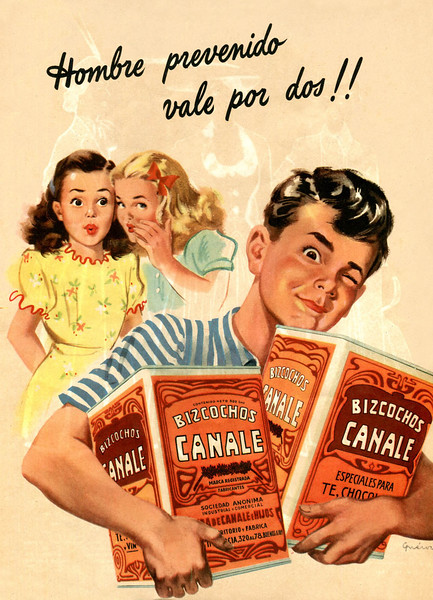 1948 CANALE biscuits Argentina (Para Ti) 'A resourcefu man is worth twice'