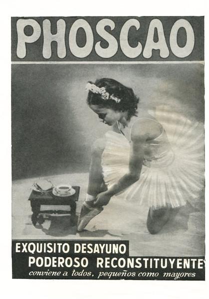 1958 PHOSKAO breakfast pastry: Spain (E Liceo)