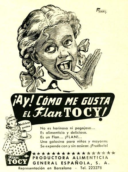 1952 TOCY dessert: Spain (El Hogar y la Moda) small format