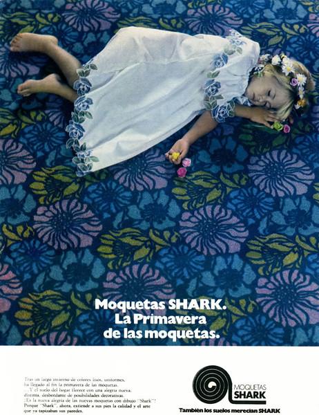 1972 SHARK carpeting Spain (El Hogar y la Moda)