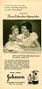 1952 JOHNSON & JOHNSON Diverse (baby oil - baby powder) Argentina (Para Ti magazine)