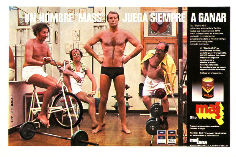 1976 MASS men's underwear Spain (half page Lecturas)