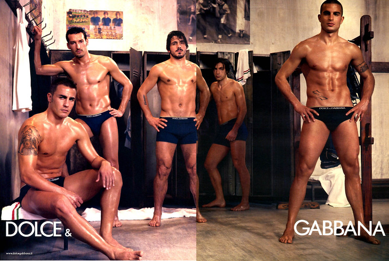 2006 DOLCE & GABBANA men's underwear France  (spread L'Express)