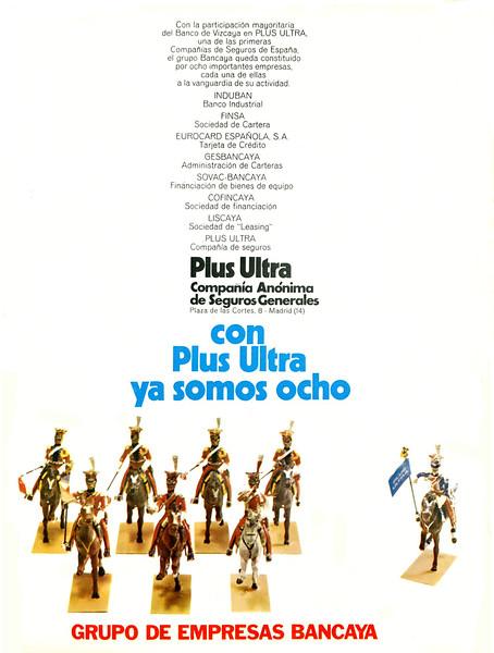 1972 PLUS ULTRA insurance Spain (Actualidad Española)