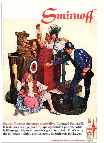 1968 SMIRNOFF vodka US (Ladies' Home Journal)