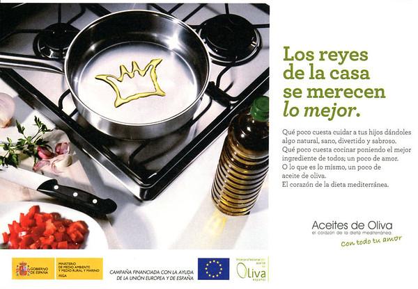 2011 ACEITES DE OLIVA (Oive Oils)  Spain (half page YoDona)