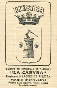 1914 RIESTRA canned sardines Spain (Mundo Grafico)