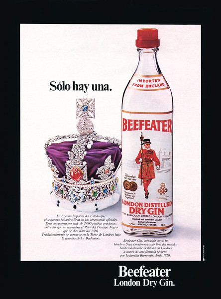 1976 BEEEATER London gin Spain