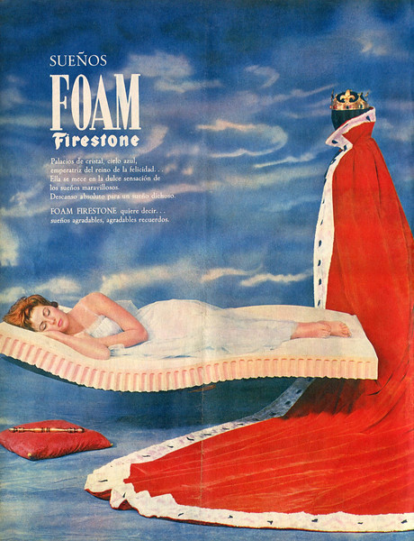 1961 FIRESTONE foam mattresses: Spain (Acualidad Española)