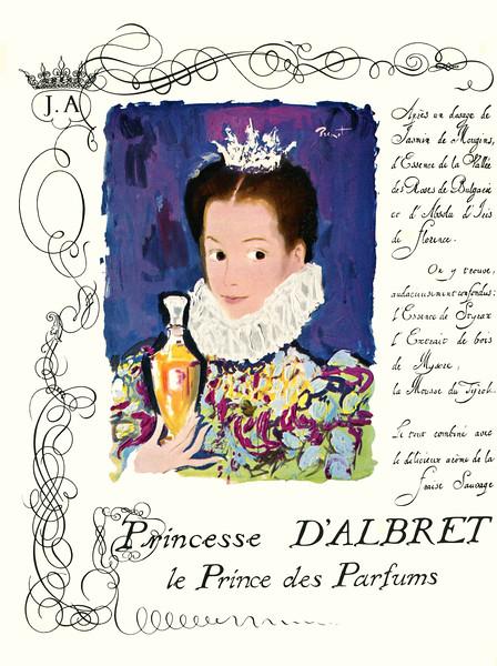 1964 D'ALBRET Princesse perfume France (Marie Claire)