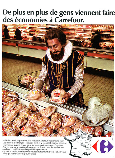 1974 CARREFOUR supermarkets France (Elle)