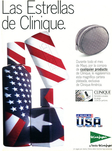 1997 CLINIQUE cosmetics Spain (El País Semanal)