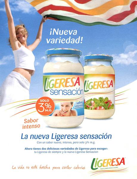 2008 LIGERESA mayonnaise sauce Spain (La Vanguardia Magazine)