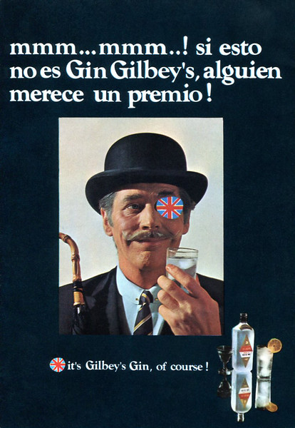 1969 GILBEY gin Spain (Liceo theatre program)