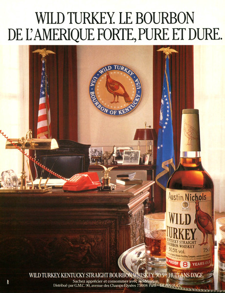 1984 WILD TURKEY whiskey France