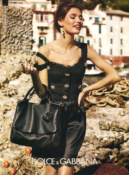 2012 DOLCE & GABBANA Spring: US (Elle) featuring Bianca Balti