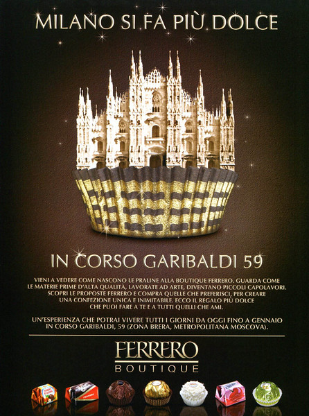 2010 FERRERO ROCHER chocolates Italy (Vanity Fair)