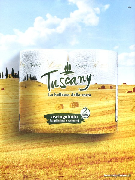 2018 TOSCANA toilet paper: Italy (Marie Claire)