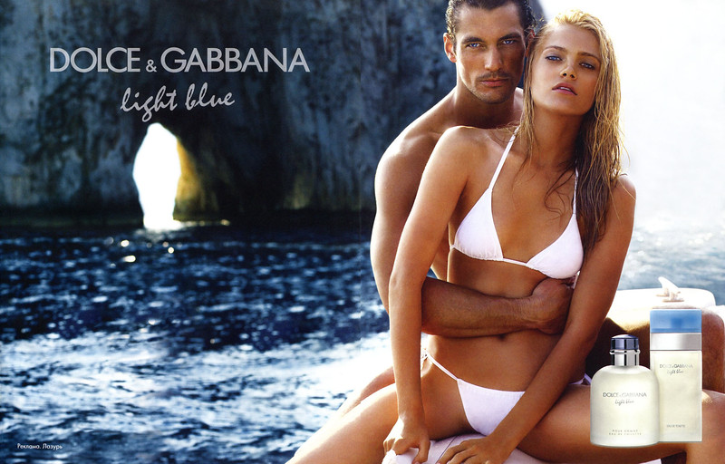 2011 DOLCE & GABBANA Light Blue fragrances Russia spread featuring David Gandy and Anna Jagodzinska