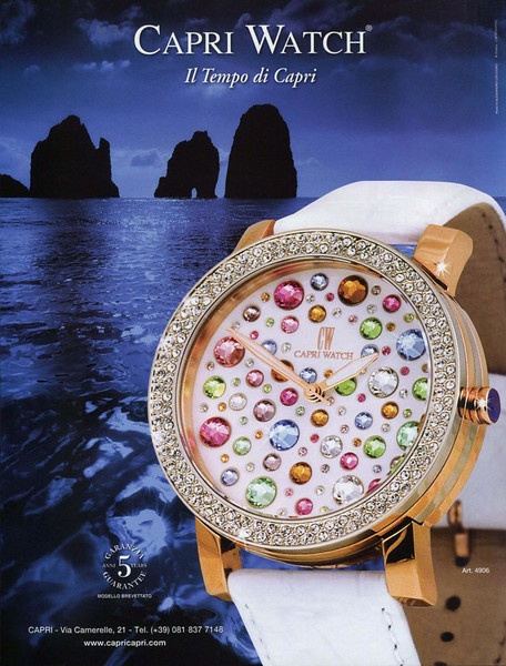 2012 CAPRI WATCH Italy (Amica) 'The Capri time'