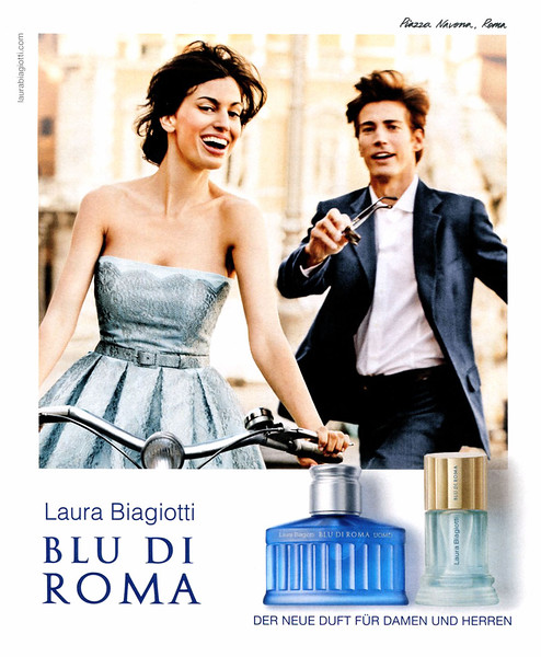 2014 LAURA BIAGIOTTI Blu di Roma fragrances: Germany  featuring Davinia Pelegrí & Oriol Elcacho