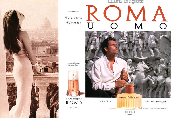 1995 LAURA BIAGIOTTI Roma - Roma Uomo fragrances: France (recto-verso)