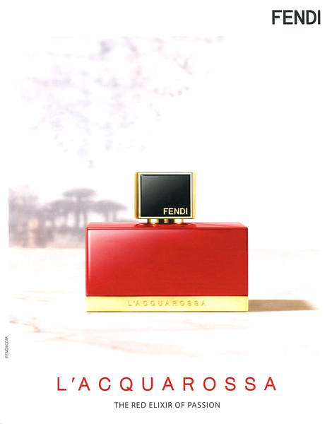 2013 FENDI Acquarossa fragrance Italy 'The red elixir of passion'
