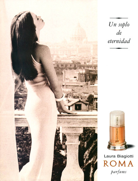 1995-1996 LAURA BIAGIOTTI Roma fragrance Spain