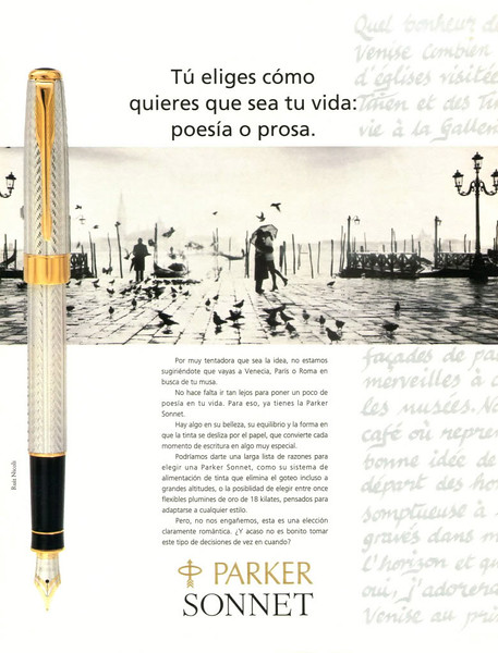 1993 PARKER fountain pens Spain (Muy Interesante)