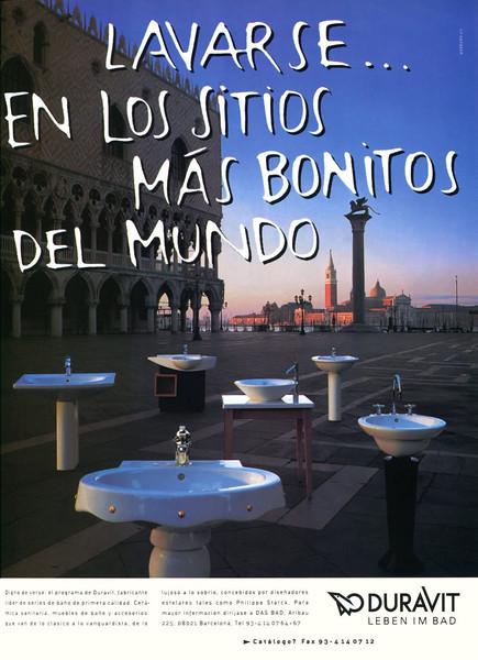 1998 DURAVIT sanitary ceramics Spain (Marie Claire Casa)