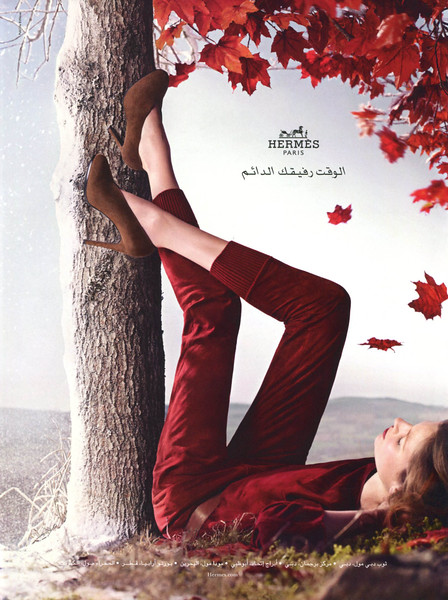 2012 HERMÈS fall-winter collection UAE (Sayidaty)  featuring Bette Franke by Nathaniel Goldberg