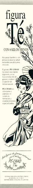 1991 PE-CHAO slimming tea Spain (half page Hola)